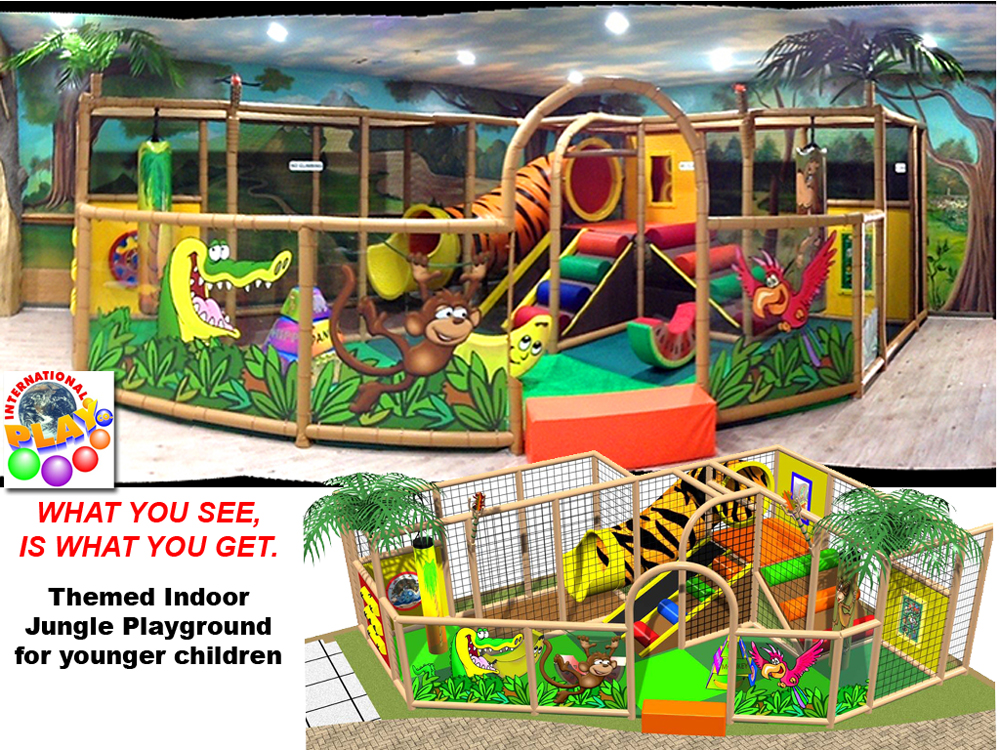 Indoor playground equipment jungle gyms what you see is for Jungle themed playroom