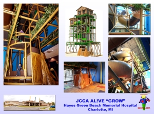 indoor tree house, indoor playground, indoor play equipment, soft play, Iplayco, JCCA, AL!VE, Hayes Green Beach, hospital, children hospital, wellness